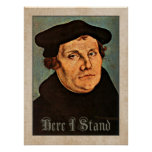 Martin Luther Here I Stand Poster