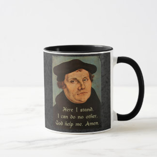 Martin Luther Here I Stand Quotation Mug