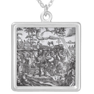 Martin Luther Silver Plated Necklace