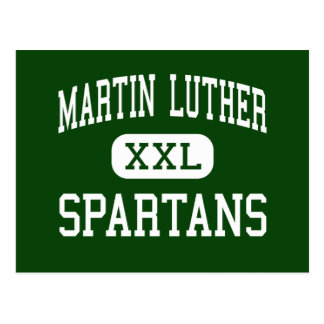 Martin Luther - Spartans - High - Greendale Postcard