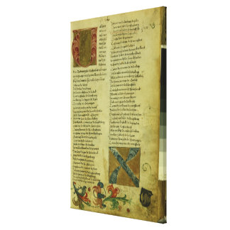 Martin Luther's enrolment sheet Gallery Wrapped Canvas