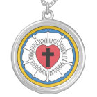 Martin Luther's Seal Silver Plated Necklace
