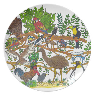Martin meets the birds plate