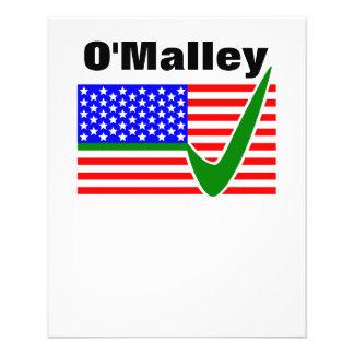 Martin O'Malley  For President 2016 11.5 Cm X 14 Cm Flyer