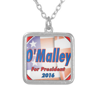 Martin O'Malley for President in 2016 Square Pendant Necklace