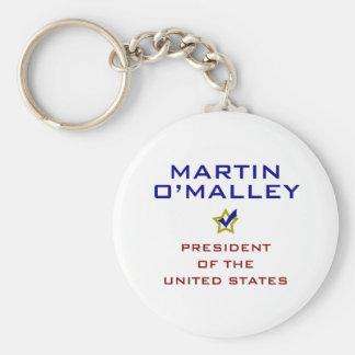 Martin O'Malley for President V2 USA Basic Round Button Key Ring
