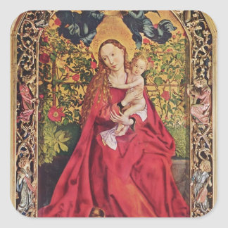 Martin Schongauer- Madonna of the Rose Bower Stickers