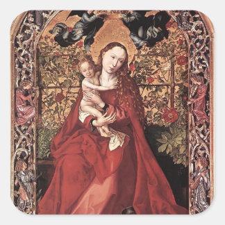 Martin Schongauer- Madonna of the Rose Bush Sticker