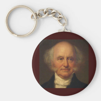 Martin Van Buren 8th President Basic Round Button Key Ring