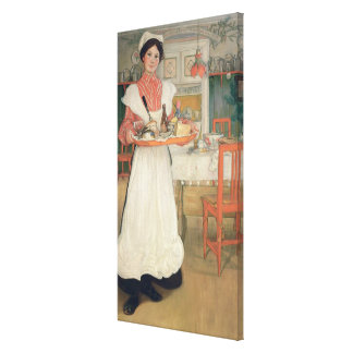 Martina Carrying Breakfast on a Tray, 1904 Canvas Print