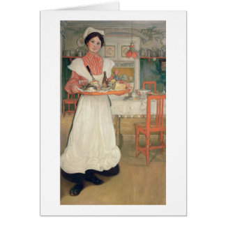 Martina Carrying Breakfast on a Tray, 1904 Card