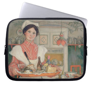 Martina Carrying Breakfast on a Tray, 1904 Computer Sleeve