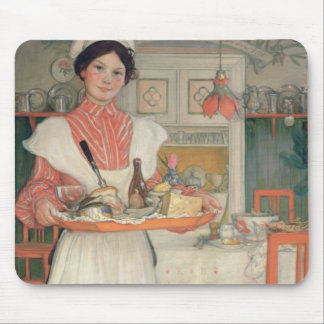 Martina Carrying Breakfast on a Tray, 1904 Mouse Mat