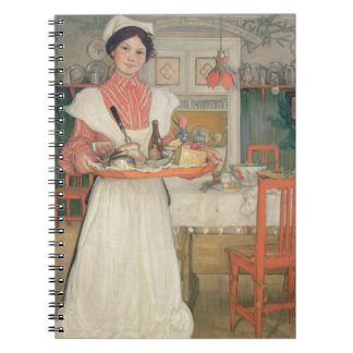 Martina Carrying Breakfast on a Tray, 1904 Note Books