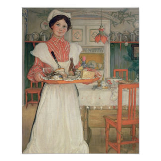 Martina Carrying Breakfast on a Tray, 1904 Poster