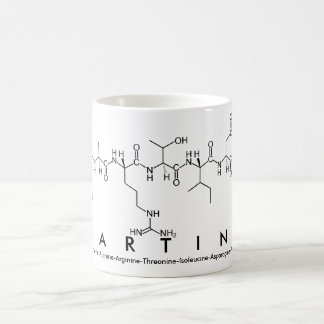 Martina peptide name mug