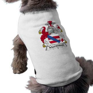 Martindale Family Crest Sleeveless Dog Shirt