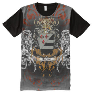 Martinez Coat of Arms All-Over Print T-Shirt