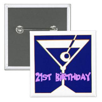 Martini 21st Birthday Gifts 15 Cm Square Badge