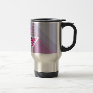 Martini Abstract Stainless Steel Travel Mug