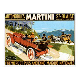 Martini Automobiles Postcard