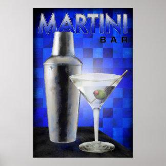 Martini Bar Print
