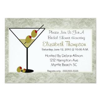 """Martini  Bridal Shower Invitation 5"""" X 7"""" Invitation Card"""