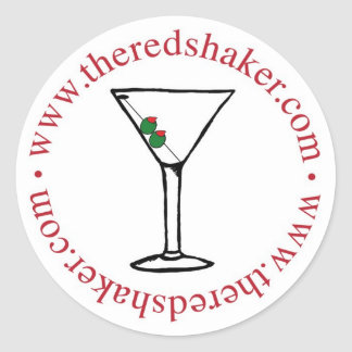 martini circle sticker - large