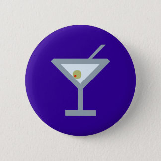 Martini cocktail 6 cm round badge