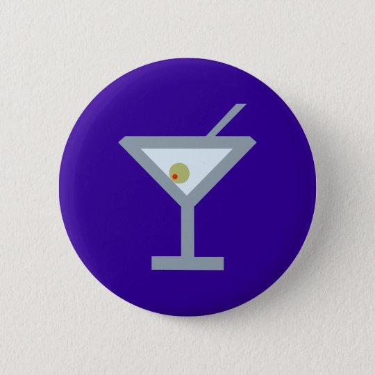 Martini cocktail 6 cm round badge