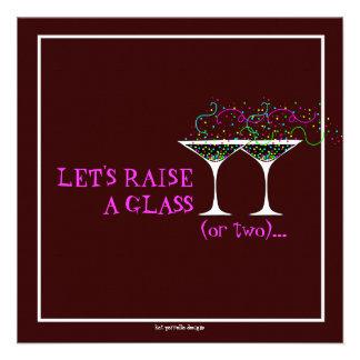 Martini Cocktail Birthday Party Invitation