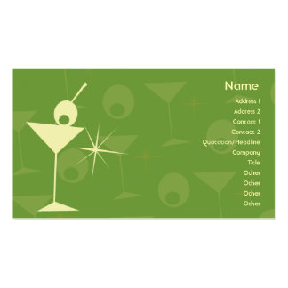 Martini Dazzle - Business Pack Of Standard Business Cards