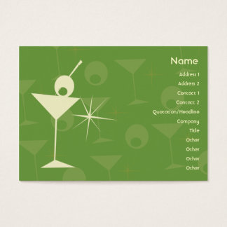 Martini Dazzle - Chubby Business Card