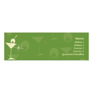 Martini Dazzle - Skinny Business Card Templates