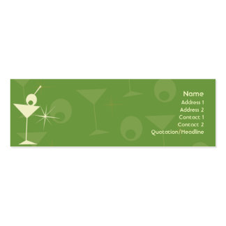 Martini Dazzle - Skinny Pack Of Skinny Business Cards