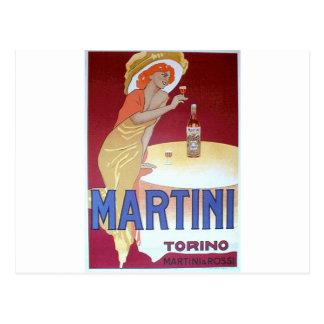 Martini design postcard