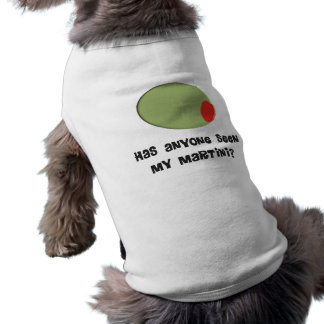 Martini Drinkers T-Shirts and Gifts Olive Design Sleeveless Dog Shirt