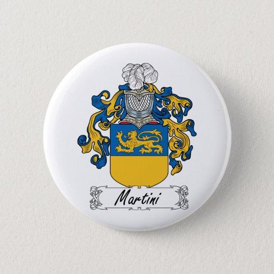 Martini Family Crest 6 Cm Round Badge