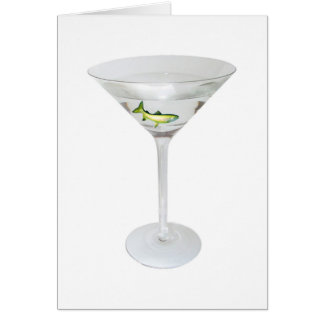 Martini Fish Card