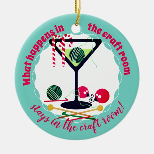 Martini funny knitting crochet Christmas ornament