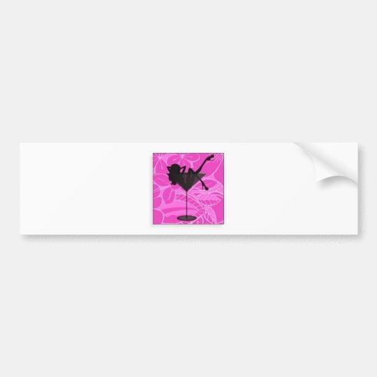 martini girl line bumper sticker