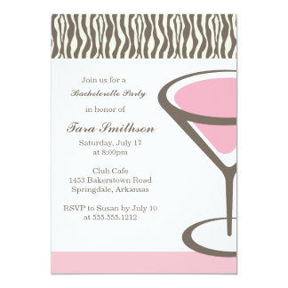 {martini}  girls night out 5x7 paper invitation card