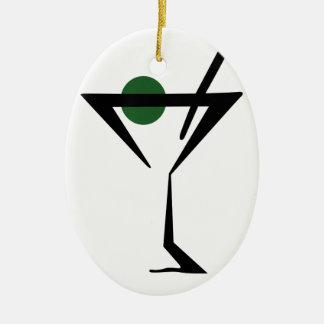 Martini Glass Ceramic Oval Decoration