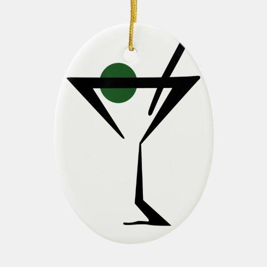 Martini Glass Christmas Ornament