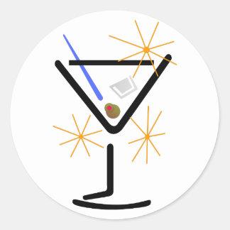 Martini Glass Classic Round Sticker