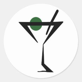 Martini Glass Round Sticker