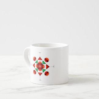 Martini glass snowflake espresso mug