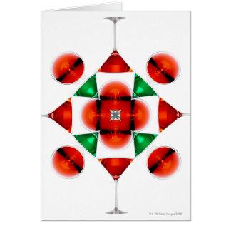 Martini glass snowflake greeting card