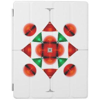Martini glass snowflake iPad cover