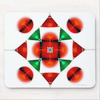 Martini glass snowflake mouse pads